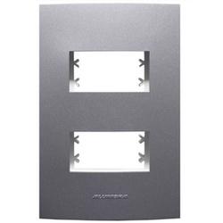 Placa 4x2 2Mod c/sup Grafite 85477 - INOVA PRO CLA... - Meta Materiais Elétricos Ltda