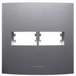 Placa 4x4 2Mod C/sup Grafite 85480 - INOVA PRO CLA... - Meta Materiais Elétricos Ltda