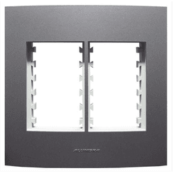 Placa 4x4 6mod c/sup Grafite 85482 - INOVA PRO CLA... - Meta Materiais Elétricos Ltda