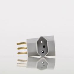 PINO 3 SAIDAS T 2P+T CINZA 14753 - MARGIRIUS - Meta Materiais Elétricos Ltda