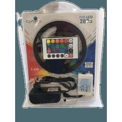Fita Led 2835 3,6W 12V com 5M RGB c/Controle e Fon... - Meta Materiais Elétricos Ltda
