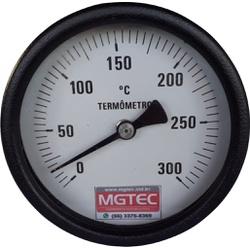 Termômetro para Secador 100mm - 0 a 300ºC - 118 - Mgtec Equipamentos Agroindustriais