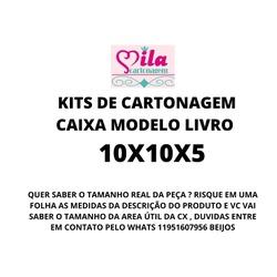 KITS DE CARTONAGEM PARA CAIXA LIVRO TAMANHO 10X10X... - MILACARTONAGEM