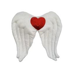 Fantasia Asa anjo coração paete Vermelho