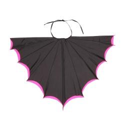 Fantasia asa morcego preto e rosa