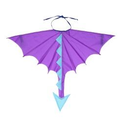 Fantasia Asa dragão Roxo e azul