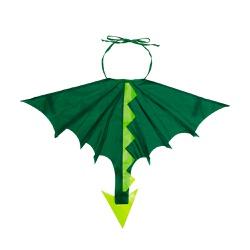 Fantasia asa dragão verde escuro e claro