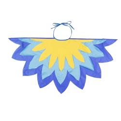 Fantasia asa pássaro azul e amarelo