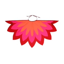 Fantasia asa pássaro vermelho, pink e laranja