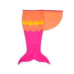 Fantasia Cauda sereia Pink, laranja e amarelo
