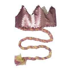 Coroa com trança Rose fosco e candy - Minibossa