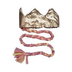 Coroa com trança Nude fosco e candy - Minibossa