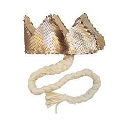 Coroa com trança Nude fosco e off white - Minibossa