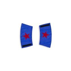Bracelete estrela azul e vermelho