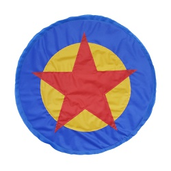 Escudo Herói azul e amarelo