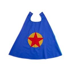 Capa heroi estrela azul e amarelo - Minibossa
