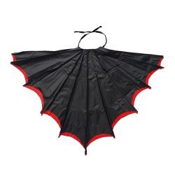Fantasia asa morcego preto e vermelho