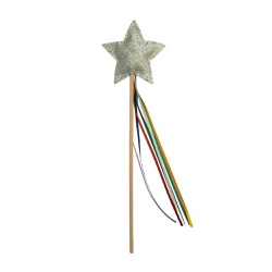 Varinha estrela Prata Rainbow