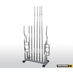 Suporte para barras chão até 12 unidades - 055 - MOLD MAC FITNESS