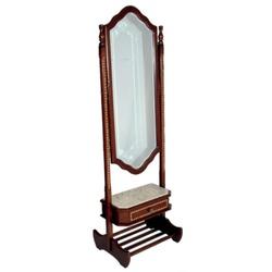 Espelho Vertical Donzela Em Madeira Maciça e March... - MOVEIS ANTIGUS