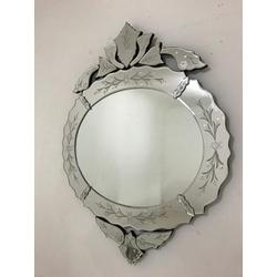 Espelho Flor - Moldura Trabalhada - 30 - MOVEIS ANTIGUS