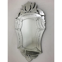Espelho Império Grande Com Moldura Trabalhada - 08 - MOVEIS ANTIGUS