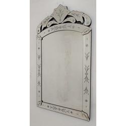 Espelho Indiano - Moldura Trabalhada - 38 - MOVEIS ANTIGUS