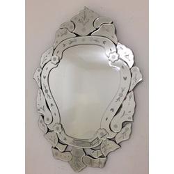Espelho Margarida - Moldura Trabalhada - 39 - MOVEIS ANTIGUS
