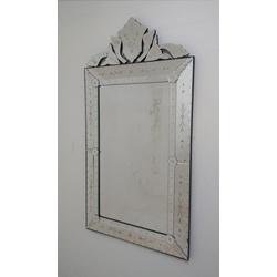 Espelho Pena Médio Antigo - Moldura Trabalhada - 1... - MOVEIS ANTIGUS