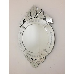 Espelho Redondinho - Moldura Trabalhada - 33 - MOVEIS ANTIGUS