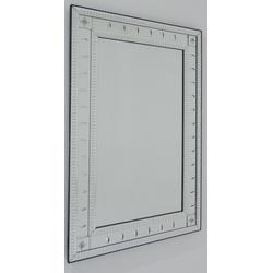 Espelho Oliva 2 Barras - Moldura Trabalhada - 57 - MOVEIS ANTIGUS
