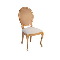 Cadeira com pé luis XV e encosto em tela da linha ... - MOVEIS ANTIGUS
