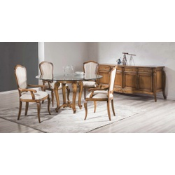 Sala De Jantar Com Mesa, 4 Cadeiras e 1 Balcão Em ... - MOVEIS ANTIGUS