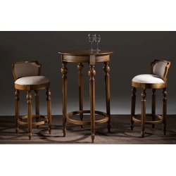 Conjunto Bar Luxo com 2 Banquetas e Mesa - 6265-62... - MOVEIS ANTIGUS