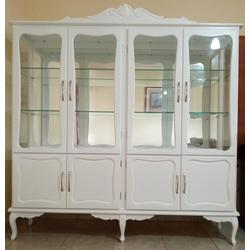 Cristaleira Provençal Com Quatro Portas - 3200 - MOVEIS ANTIGUS