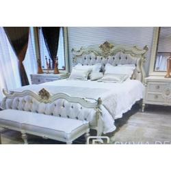 Conjunto Cama King 1,95m + 2 Mesas de Cabeceiras P... - MOVEIS ANTIGUS