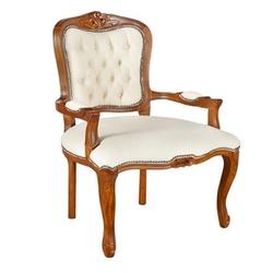 Cadeira Luis Xv Em Madeira Maciça Com Capitone - C... - MOVEIS ANTIGUS
