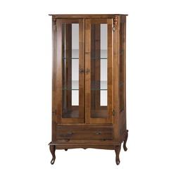 Vitrine 2 Portas com espelho e Prateleiras de vidr... - MOVEIS ANTIGUS