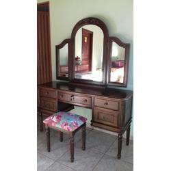Penteadeira Provençal Madeira Maciça 3 Espelhos Ca... - MOVEIS ANTIGUS