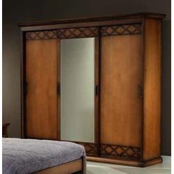 Guarda-roupas Três Portas De Correr Com Espelho (3... - MOVEIS ANTIGUS