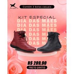 Kit Especial Dia das Mães - 2 Botas Casuais - Pret... - Mr. Gutt