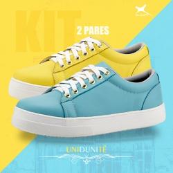 Kit Mr. Gutt Unidunitê 2 Pares - Amarelo/ Azul   C... - Mr. Gutt