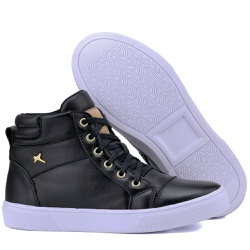 Bota Sneaker Casual Mr Gutt em Couro Legítimo Pre... - Mr. Gutt