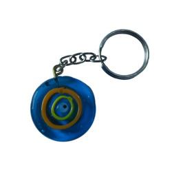 Chaveiro de Olho Grego: Azul de vidro Musa Kalliop... - MUSAKALL