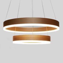 Lustre Pendente em Acrílico Dourado Fosco com LED ... - Nicolucci