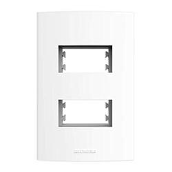 Placa 4x2 2 Modulos Distanciados Branco - Inova Pr - Nicolucci