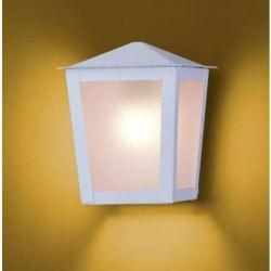 Arandela Colonial Quadrada Branco Ideal - Nicolucci