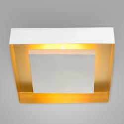 Plafon Eclipse Branco Ouro Mate Itamonte - Nicolucci