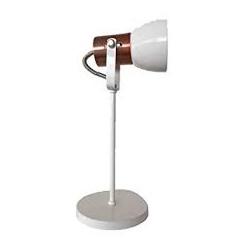 Luminária De Mesa E-27 Branco Kin Light - Nicolucci