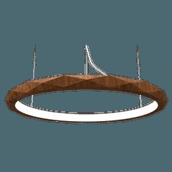 Pendente Anel Facetado Horizontal Imbuia 80x6 - Nicolucci